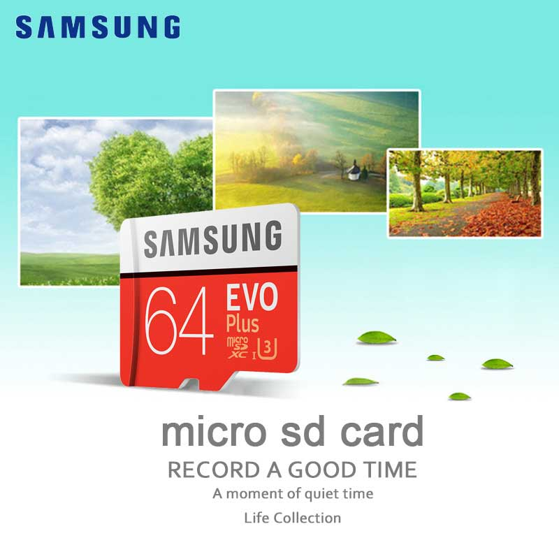 SAMSUNG Micro SD Memory Card 64 gb Class10 TF micro SD Memoria scheda SDHC/SDXC UHS-I 64G con Anello di supporto Per Smart phone & Tablet