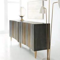 180cm Length Sideboard / Gilted Wood Feet