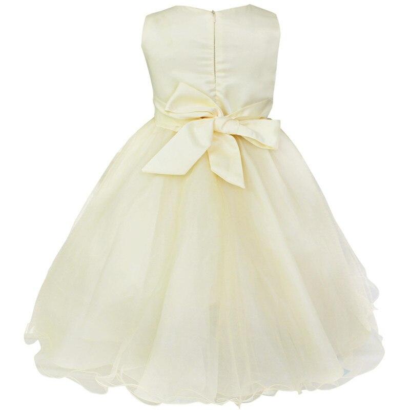Детское платье до колена с блестками и цветочным узором для девочек возрастом от 2 до 14 лет Детские Вечерние платья на свадьбу, бальное платье, платье принцессы на выпускной, торжественное платье для девочек