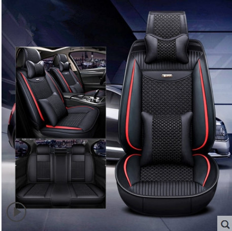 Best quality! Full set car seat covers for Hyundai Santa fe 5 seats 2019 breathable seat covers for Santafe 2019,Free shipping