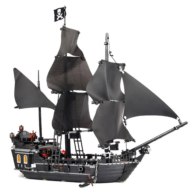 16006 804pcs building bricks Pirates of the Caribbean the Black Pearl Ship model Toys Compatible 4184 цена 2017