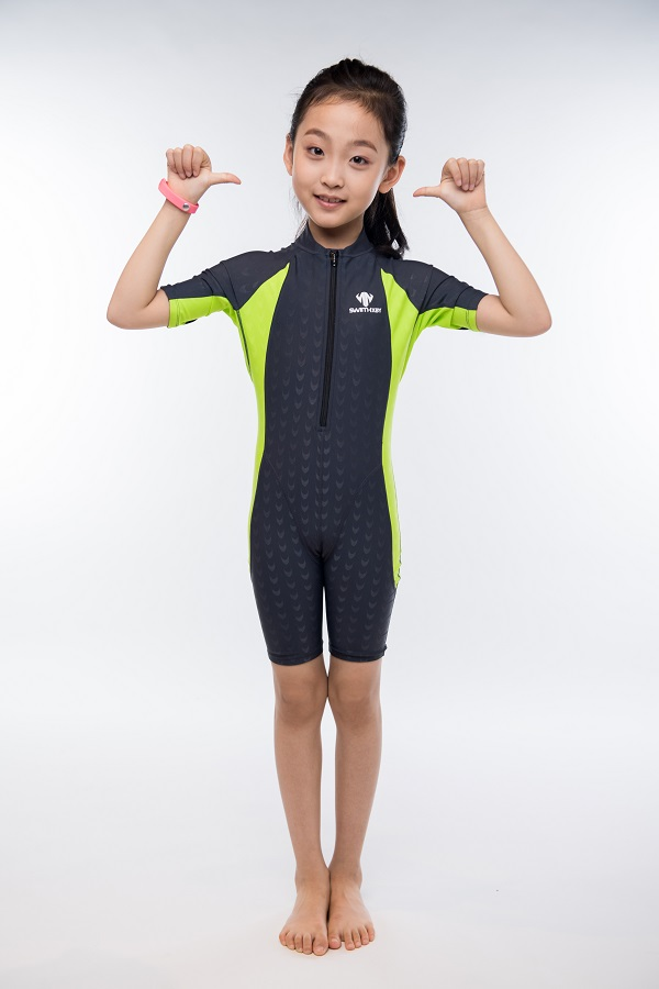 Girls Sexy One Piece Professional Short Sleeve Swimsuit Kids Sports Racing Competition Nylon Knee Bathing Suit Surfing Clothing scoyco motorcycle riding knee protector extreme sports knee pads bycle cycling bike racing tactal skate protective ear