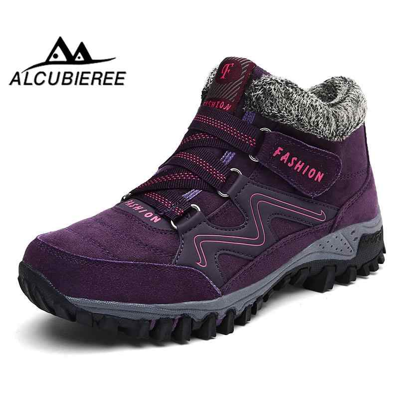Winter winter laarzen voor vrouwen warme waterdichte snowboots pluche laarzen warm suède laarzen winter bootswomen2018 schoenen vrouwen pluche