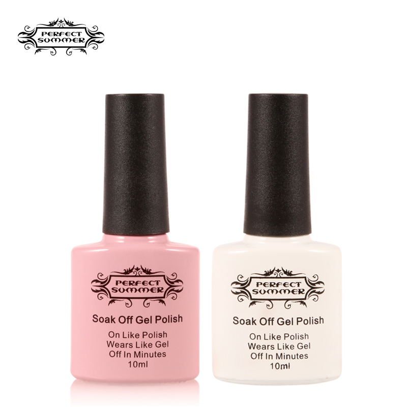 White Gel Nail Polish: Perfect Summer French Manicure Nail Gel Polish Pink And
