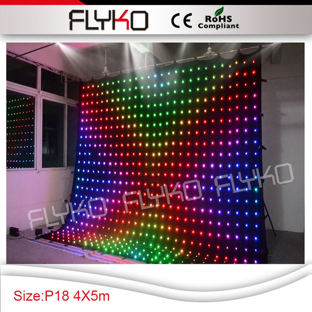 Led Curtain For Dj Booth P18 Stage Lighting Effect Programmable Display
