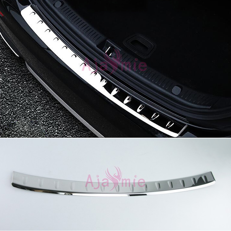 Accessories Fit For Mercedes Benz 2016 2017 E Class W213 Exterior Rear Trunk Bumper Trim Stainless Steel Door Sill Car Styling stainless steel sill strip for k ia k2 car styling exterior accessories window trim