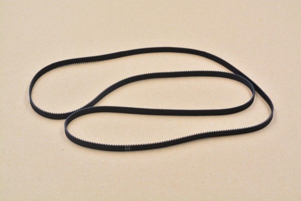 3d impresora 2gt cinturón de lazo cerrado de goma dientes de la correa 488 longi