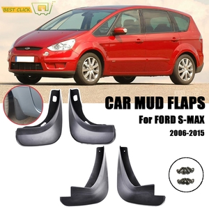 Set Molded Mud Flaps For Ford S-Max 2006 - 2015 Mudflaps Splash Guards Front Rear Mudguards 2007 2008 2009 2010 2011 2012