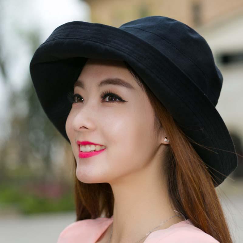 Gratë Bowknot Sun Hat, Dizajn Hats Peshkatar Beach Beach, Anti-UV - Aksesorë veshjesh - Foto 2