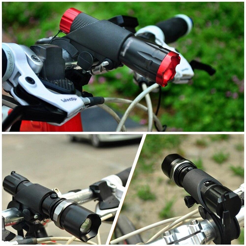 360° Rotation Bicycle Handlebar Light Bracket Flashlight Lamp Holder Ideal New