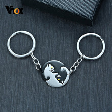 Vnox Cute Couples Pet Shaped Key Chains for Woman Men Gifts Stainless Steel Daily Use Car Key Chain Accessory(China)
