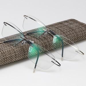 Image 3 - Occhiali senza montatura In Titanio Telaio Fotocromatiche Miopia occhiali Delle Donne Degli Uomini Chameleon Occhiali Lente con Diottrie 1.0 1.5 2.0 2.5 3.0