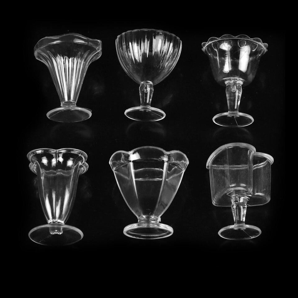 6Pcs Doll House Cups Miniatures Kitchen Tableware Ice cream sundae CupYJUS