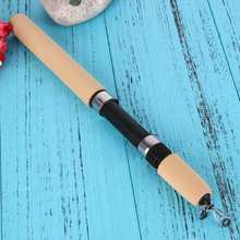 80cm Telescopic Mini Winter Fishing Pole Ice Fishing Rods Fishing Reels Pen Shape Fishing Tackle Tool Casting Hard Rod Pesca