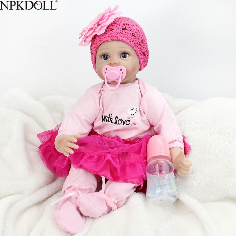 KAYDORA Reborn bébé poupées enfant en bas âge mode Bebe Reborn doux tissu corps 55 cm Silicone poupée enfant jouets Brinquedos pour les filles