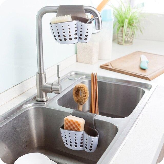 Incroyable LMETJMA Kitchen Sink Sponge Holder With Magic Clean Sponge Hanging Sink  Drain Rack Sink Bathroom Holder Organizer KC0518 1