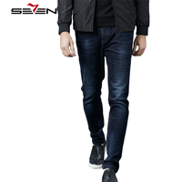 Seven7 High Quality Skinny Biker Jeans Men Slim Fit Famous Brand Ripped Jean Pants Male Straight