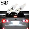T15 T10 Canbus OBC Free Error Bombillas LED Reverse Luces Licencia lámpara de Luz de La placa 921 912 W16W Coche Externa Auto 18SMD Xenon blanco