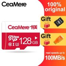 CeaMere การ์ดหน่วยความจำ 256GB 128GB 64GB U3 UHS 3 32GB Micro sd card Class10 UHS 1 การ์ดแฟลชหน่วยความจำ Microsd TF/SD การ์ดสำหรับแท็บเล็ต