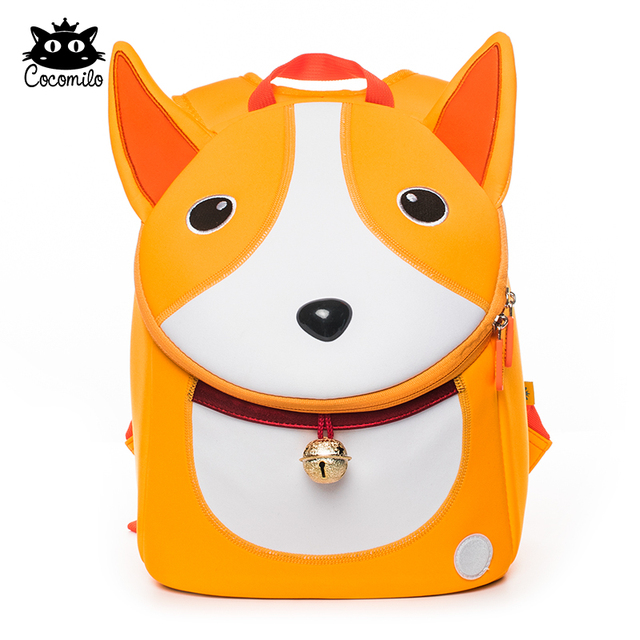 Cocomilo Waterproof 3D Dog Pattern Anti-lost School Bag Dog Ears Little  Kids Kindergarten Backpack Zoo Animal Toddler Bag Boys