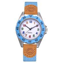 relogio infantil Fashion Children watches Kids Arabic Numbers Nylon Band Wristwatch Analog Quartz Watch relogios