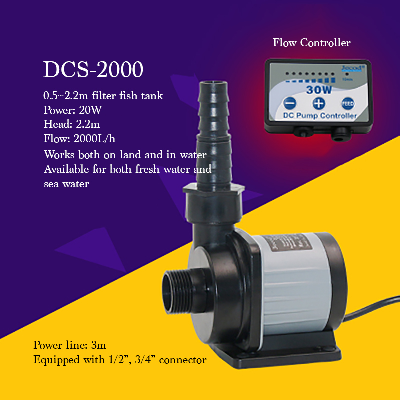 DCS-2000 Frequency Variable Water Pump Land/water Fish Tank Use Portable Quiet Submersible Pump Small 20W MinI Electrical Pump countryman guiding land use decisions