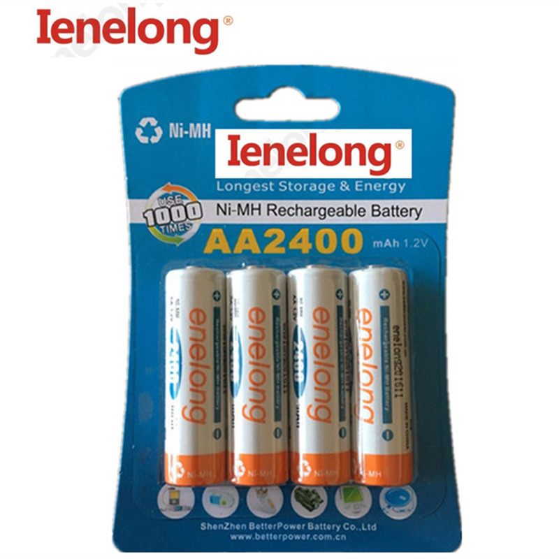 4 x Ienelong AA Batteries NI-MH 2400Mah 1.2V AA Rechargeable  Battery 2A Electronic Toys Bateria