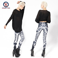 2016 women leggings hot fashion black skeleton printed free size elastic Lady leisure casual casual Leggings woman pencil pants