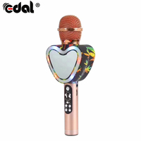 Wireless Bluetooth Mikrofono Karaoke Handheld Microphone Bluetooth Mic Speaker Record Music Microphone for Phones Home KTV