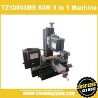 TZ10003MS 60W Metal Multi Function Machine/3 in 1 lathe,drill & mill machine