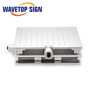 Image 3 - WaveTopSign 2D Worktable Sợi Laser Mark Máy 2 Trục Di Chuyển Bàn 300X220X90Mm XY Bàn