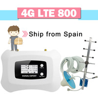 4G LTE 800 Cellphone Signal Booster 70dB Gain LCD Display 4G LTE 800 Band 20 Cellular Signal Repeater 4G Mobile Phone Amplifier|Signal Boosters|Cellphones & Telecommunications -