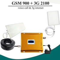 2G 3G Signal GSM 900 GSM 2100 Cell Phone Signal Booster Amplifier 3G GSM Repeater Dual