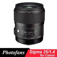 Sigma 35/1. 4 ART เลนส์สำหรับ Canon 35mm f/1.4 DG HSM สำหรับ Canon 700D 750D 760D 800D 60D 70D 80D 7D 6D 5DII 5DIII 5Ds 1Dx