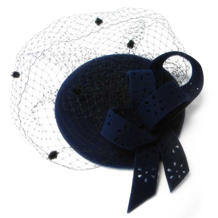 Exclusive big bow pure Small Party wool felt fedora hat new female small  ceremony wedding evening church hats for woman-in Fedoras from Apparel  Accessories ... 4468c11b7779
