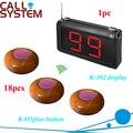 Tabela do Casino botão de campainha de chamada do sistema 18 pcs remoto com 1 dispaly receptor K-302 para equipamentos de restaurante