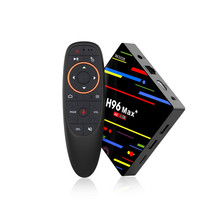 H96max+ TV Box Android 8.1 Quad Core 4+32G 4K WiFi 1080P Network Set Top Box Support HDMI USB TF IR Remote Smart TV Box