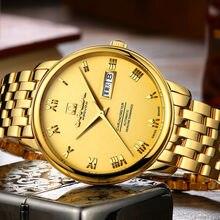Карнавал Элитный бренд часы мужчины автоматические механические Miyota движение световой полный золота нержавеющей стали Водонепроницаемый часы