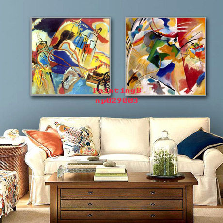 kandinsky oil painting on canvas for home art decoration living room