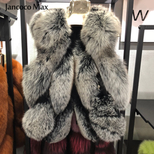 New Arrival Women Real Fox Fur Gilet Fashion Style Natural Vest Spring Winter High Quality Lady Waistcoat S7483