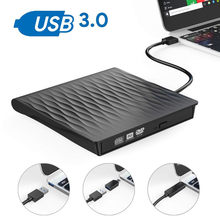 Unidad de DVD USB 3,0, grabador externo de CD/DVD RW, reproductor de CD ROM Plug & Play para ordenador portátil, PC, Macbook(China)