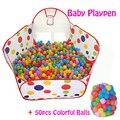50 pcs Bolas + Ao Ar Livre/Interior Do Bebê Carrinhos Para As Crianças Atividade & Gear Dobráveis das Crianças Piscina de Bolinhas Tenda esgrima Corralito 0.9 1.2 1.5