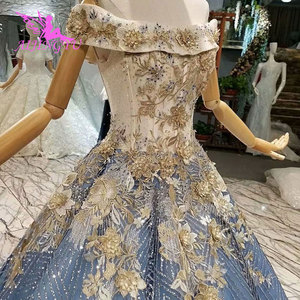 Image 2 - AIJINGYU Wedding Dresses New Vintage Gowns Marriage Islamic Long Tail Indian Sexy Bride Affordable Wedding Dress Shops
