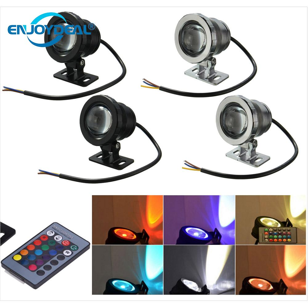 Led Lamps 12v 85-265v 5w/10w Rgb Led Light Ip68 Waterproof Swimming Pool Lights With Remote Controller Mild And Mellow
