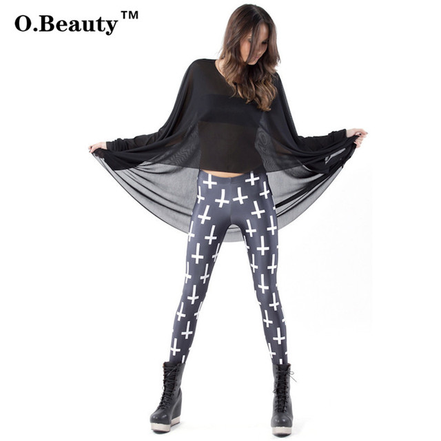O.Beauty 2017 Women Gothic Creative Leggings Fitness Harajuku Digital Printed Skinny Slim Elastic Legins Pencil Pants Leggings