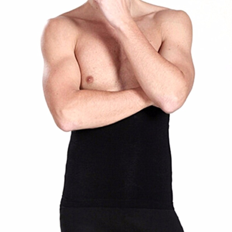 Men's Waist Belly Slimming Body Shaper Girdle Belt Cincher Underbust Corset 4