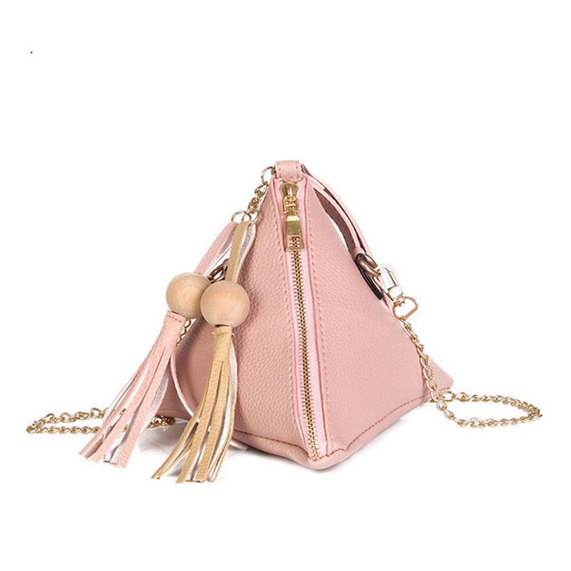 New 2018 Fashion Women Clutches tassel Bag Female Small Triangle Single Shoulder Bag PU Mini Handbag Crossbody bag Purse Handbag women bag set top handle big capacity female tassel handbag fashion shoulder bag purse ladies pu leather crossbody bag