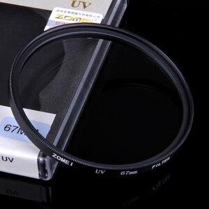 Zomei фильтр для камеры Ультрафиолетовый фильтр для защиты объектива 37/40. 5/49/52/55/58/62/67/72/77/82 мм защита для DSLR камеры