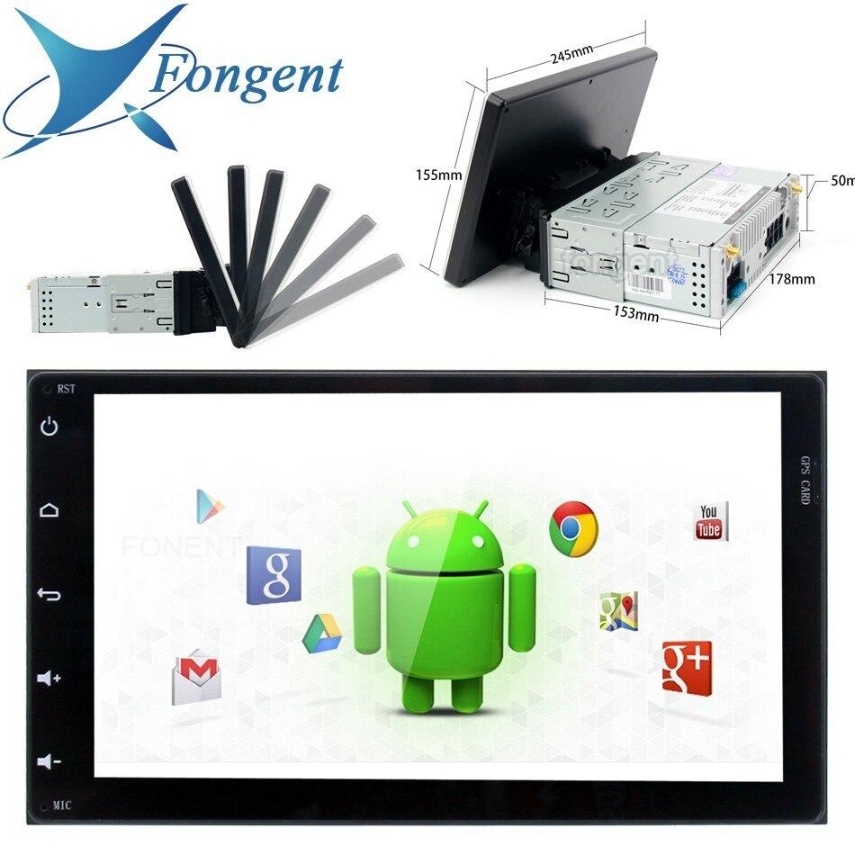 1 2 autoradio Din GPS Android 9.0 DSP stéréo universel 2.5D 10.2