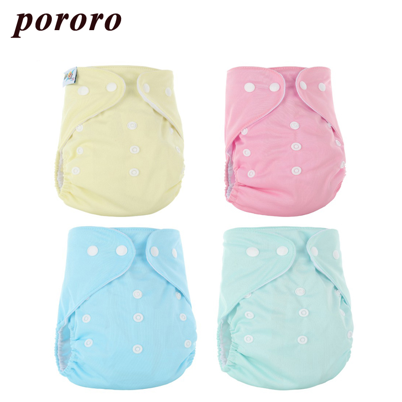 [Pororo] Baby Cloth Diaper Ruffle Reusable Diaper Cover Solid PUL Waterproof Inner Suede Cloth Single Leakage Snaps